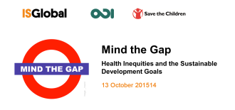 Mind the Gap 1: Health Inequities and the Sustainable Development Goals