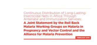 New Recommendations on Malaria and Pregnancy