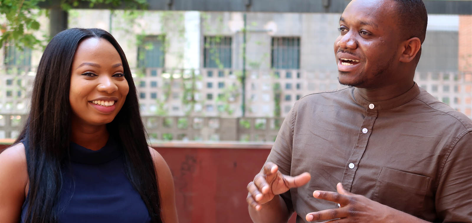 Daniel Kwakye and Ifeyinwa Martins received a grant to pursue the ISGlobal-UB Master of Global Health and, on this video, they share their views and experience
