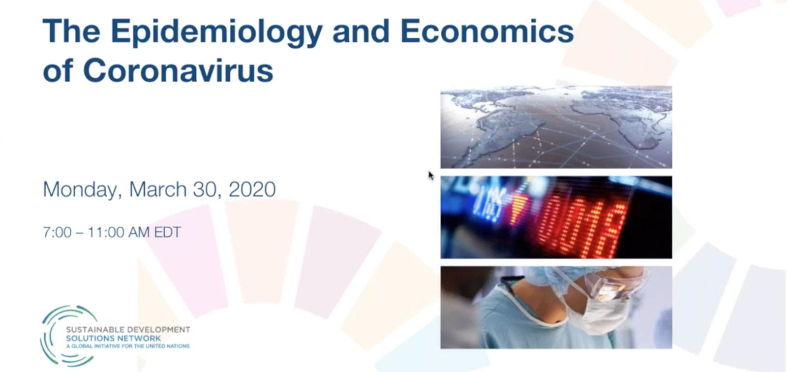 The Epidemiology and Economics of Coronavirus